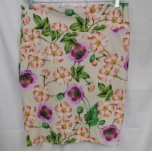 Lularoe Pull On Floral Print Pencil Skirt Sz 2XL